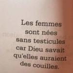Toi la femme…